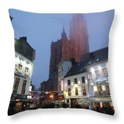 Misty Cathedral Throw Pillow