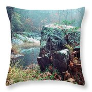 Misty Chopawamsic Creek Autumn Day Throw Pillow