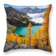 Misty Colchuck Lake Throw Pillow