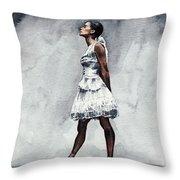 Misty Copeland Ballerina As The Little Dancer Throw Pillow