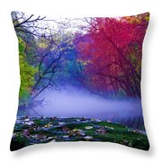 Misty Creek Throw Pillow