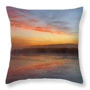 Misty Dawn #2 Throw Pillow