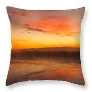 Misty Dawn#1 Throw Pillow