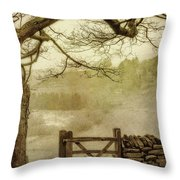 Misty Delight Throw Pillow