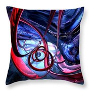 Misty Dreams Abstract Throw Pillow