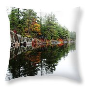 Misty Fall Throw Pillow