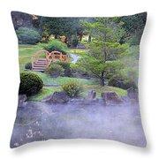 Misty Garden Throw Pillow
