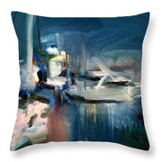 Misty Harbor Throw Pillow