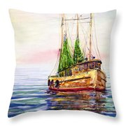 Misty In The Morning Throw Pillow