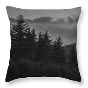 Misty Maine Woods Black And White 2 Throw Pillow