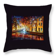 Misty Melody Throw Pillow