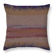 Misty Moisty Landscape Abstraction Throw Pillow