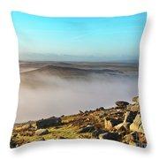Misty Moor Throw Pillow