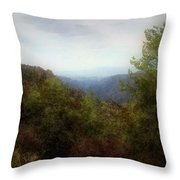 Misty Morn In The Mountains Throw Pillow