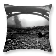 Misty Morning In Black And White Throw Pillow