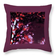 Misty Morning-purple And Red Throw Pillow