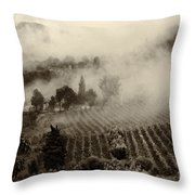 Misty Morning Throw Pillow by Silvia Ganora