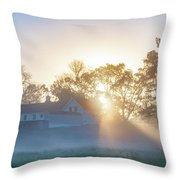 Misty Morning Sunrise - Valley Forge Throw Pillow