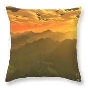 Misty Mornings In Neverland Throw Pillow