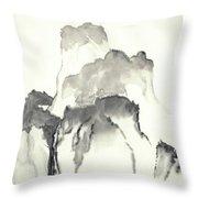 Misty Mountain Throw Pillow
