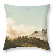 Misty Mountain Peaks Throw Pillow