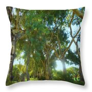 Misty Mountain Top Throw Pillow