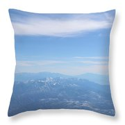 Misty Mountains Throw Pillow
