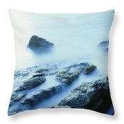 Misty Ocean Throw Pillow