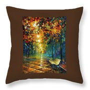 Misty Park Throw Pillow