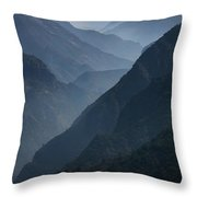 Misty Peaks Throw Pillow