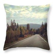 Misty Roads Throw Pillow