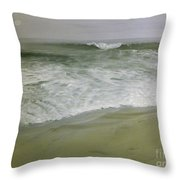 Misty Seas Throw Pillow