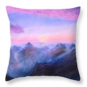Misty Sight Throw Pillow