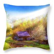 Misty Spring Morning Throw Pillow