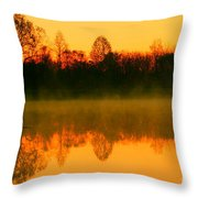 Misty Sunrise Throw Pillow by Morgan Hill