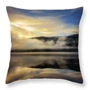 Misty Sunrise Throw Pillow