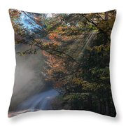 Misty Turn In The Road Throw Pillow