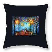 Misty Vibrations Throw Pillow