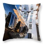 Mit Stata Center Cambridge Ma Kendall Square M.i.t. Reflection Throw Pillow