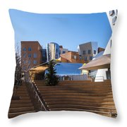 Mit Stata Center Cambridge Ma Kendall Square M.i.t. Staircase Throw Pillow