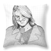 Mitch Hedberg In His Own Jokes Throw Pillow