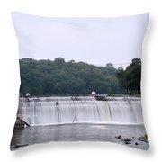 Mitchell Iowa Dam Throw Pillow