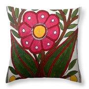 Mithila Bloom Throw Pillow