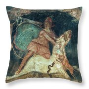 Mithras Killing The Bull - To License For Professional Use Visit Granger.com Throw Pillow