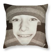 Mittens Quote Throw Pillow
