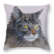 Mitze Maine Coon Cat Throw Pillow