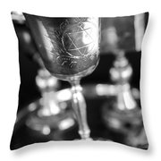 Mitzvah Cup Black And White Throw Pillow
