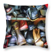 Mix Of Shoes Nyc Throw Pillow