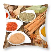 Mix  Of Spices Throw Pillow