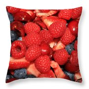 Mixed Berries Throw Pillow